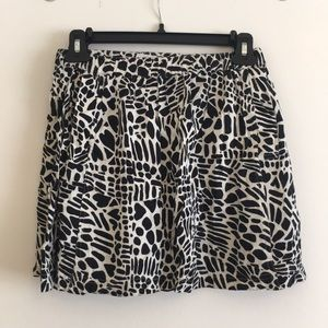 Urban Outfitters patterned mini skirt